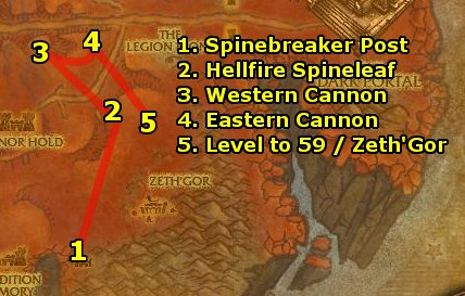 Hellfire Peninsula quest guide
